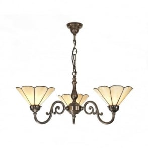 GRANDE aged brass Victorian ceiling pendant