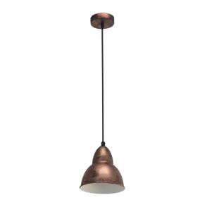 Vintage Collection FACTORY retro ceiling pendant light in a copper finish
