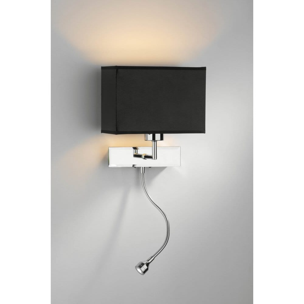 Amalfi Modern Chrome Wall Light with LED Reading Arm