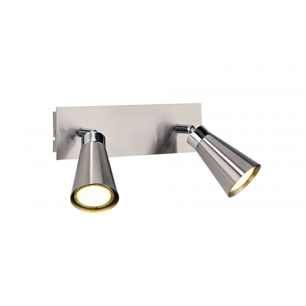 Wall Light Double Spotlight : Maverick Low Energy Twin Spotlights