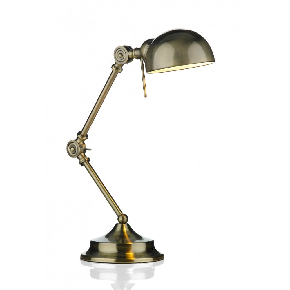 Task Lamp Ranger Antique Brass Adjustable Desk Or Reading