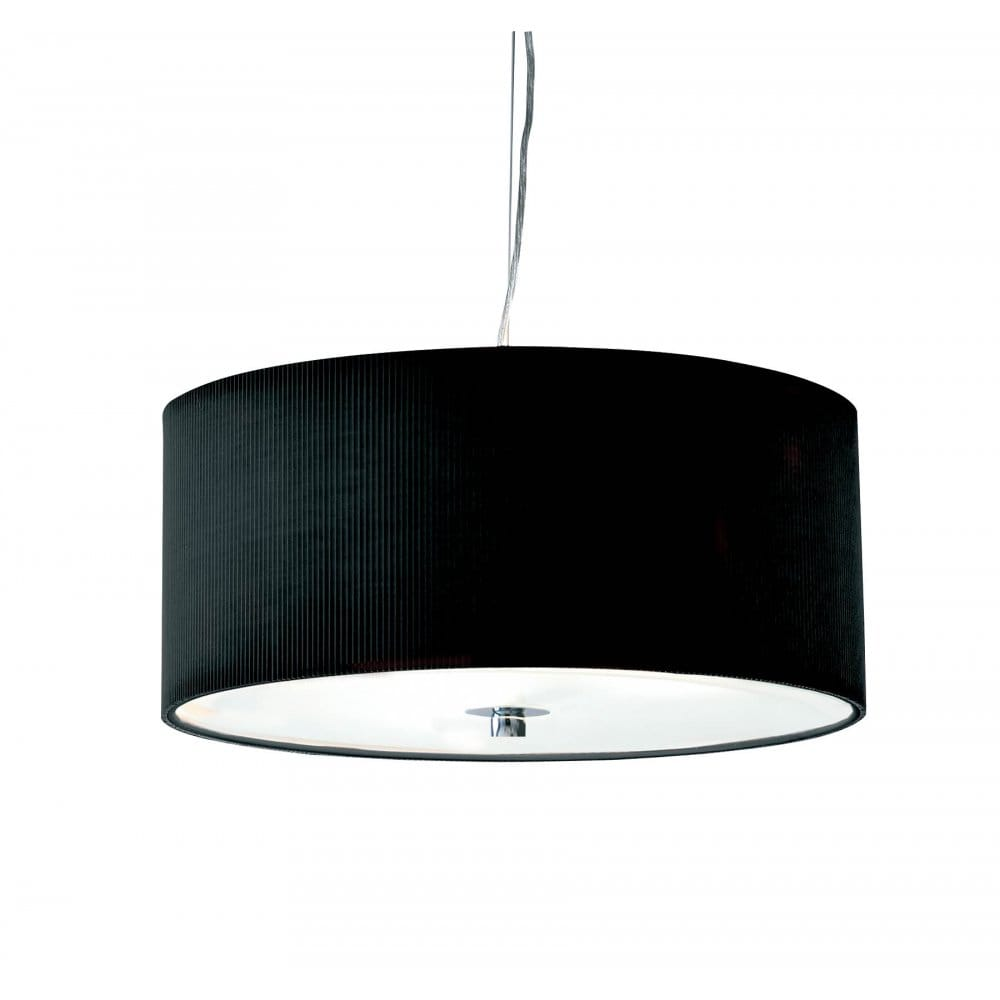 Zaragoza circular black ceiling light shade for high ceilings for Luminaire noir suspension
