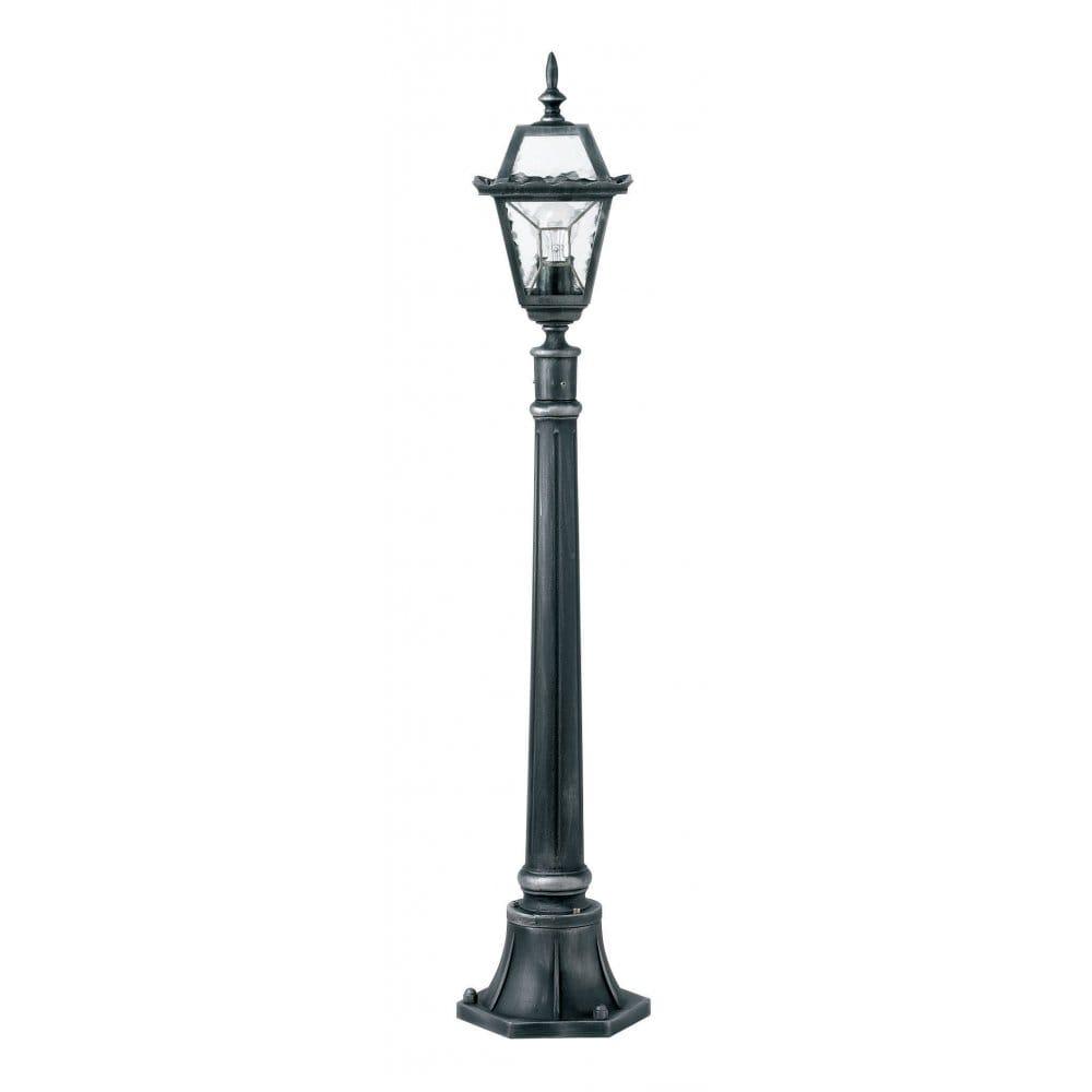 buy garden lamp post black and silver. Black Bedroom Furniture Sets. Home Design Ideas