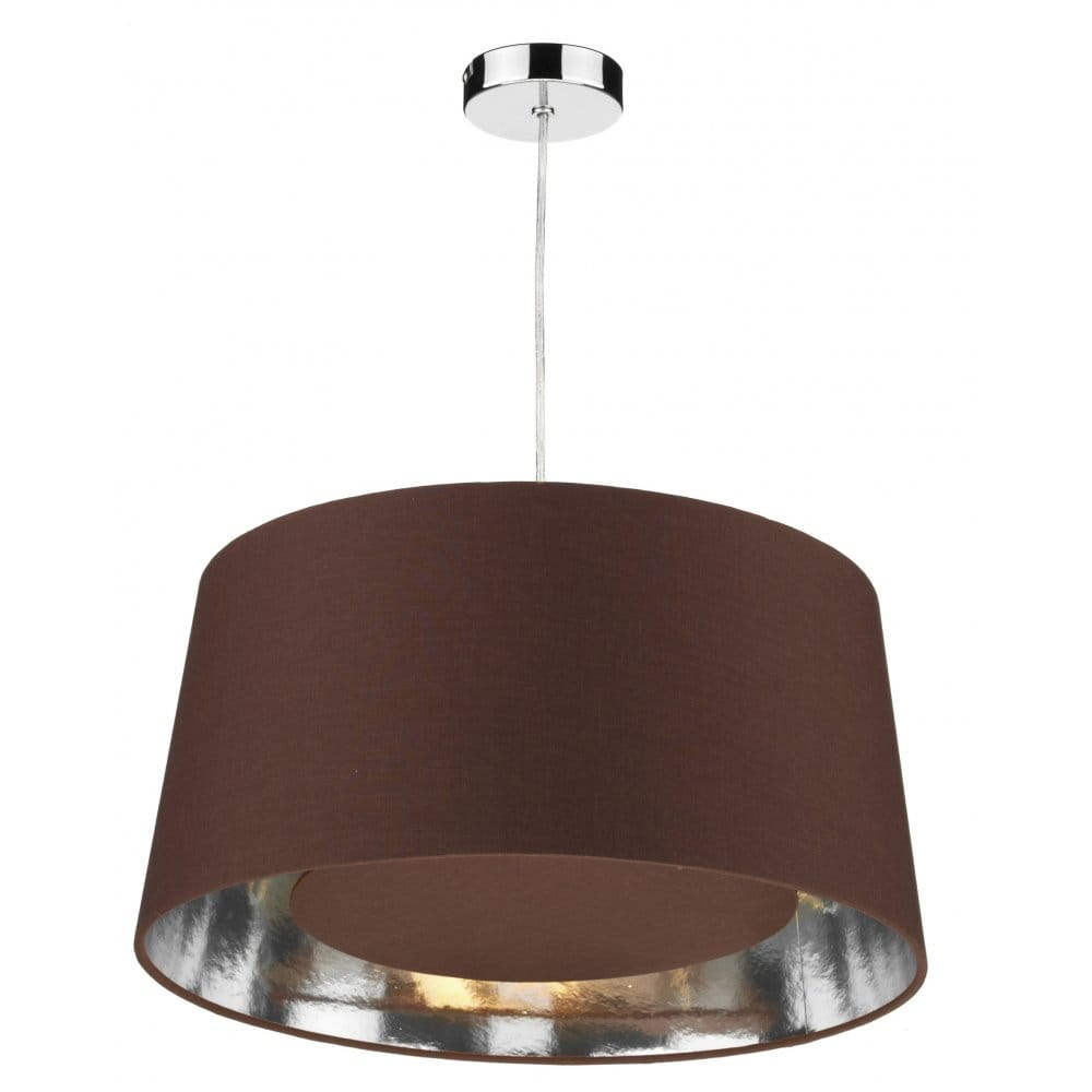 Lamp Shades For Ceiling Lights: Bugle Easy Fit Non Electric Chocolate Brown Ceiling Light