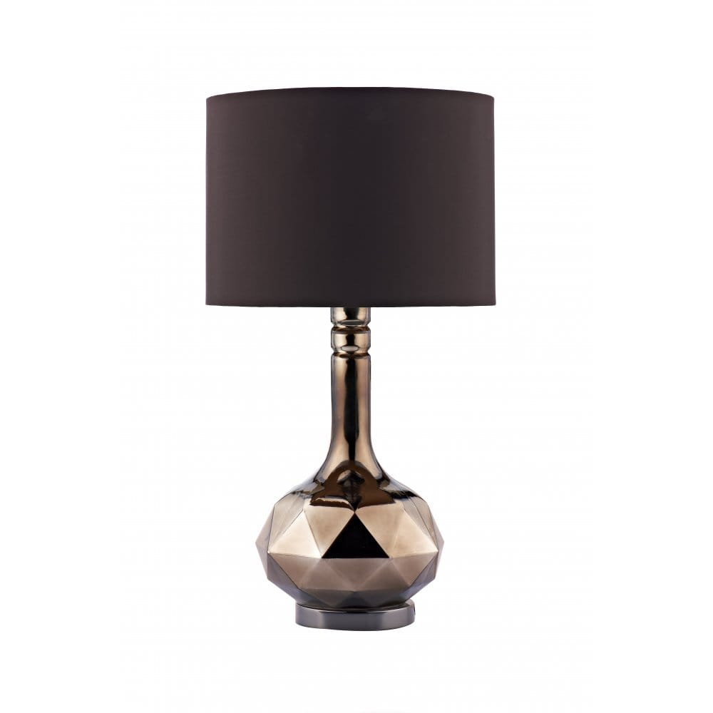 Modern brown glass table lamp chocolate shade for Modern contemporary table lamps
