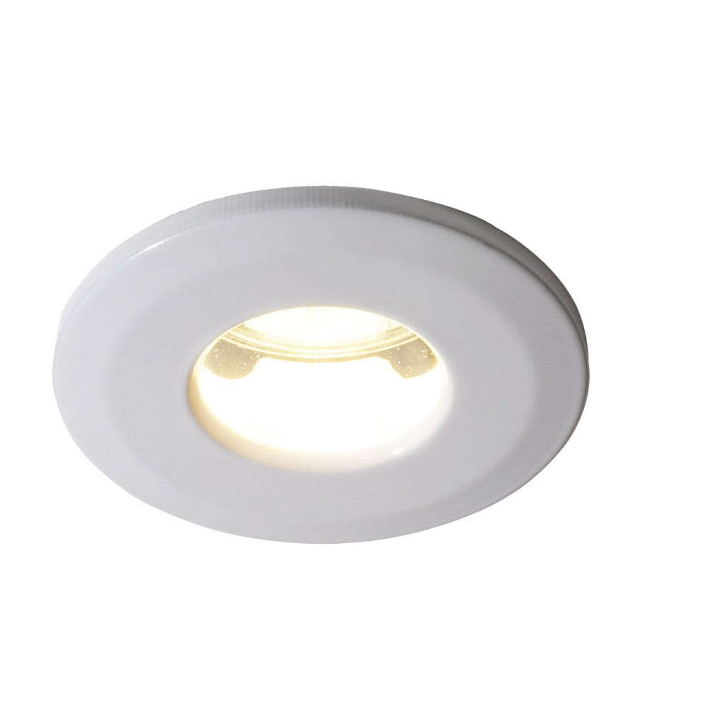 low voltage ip65 white recessed spotlight for bathrooms and kitchens