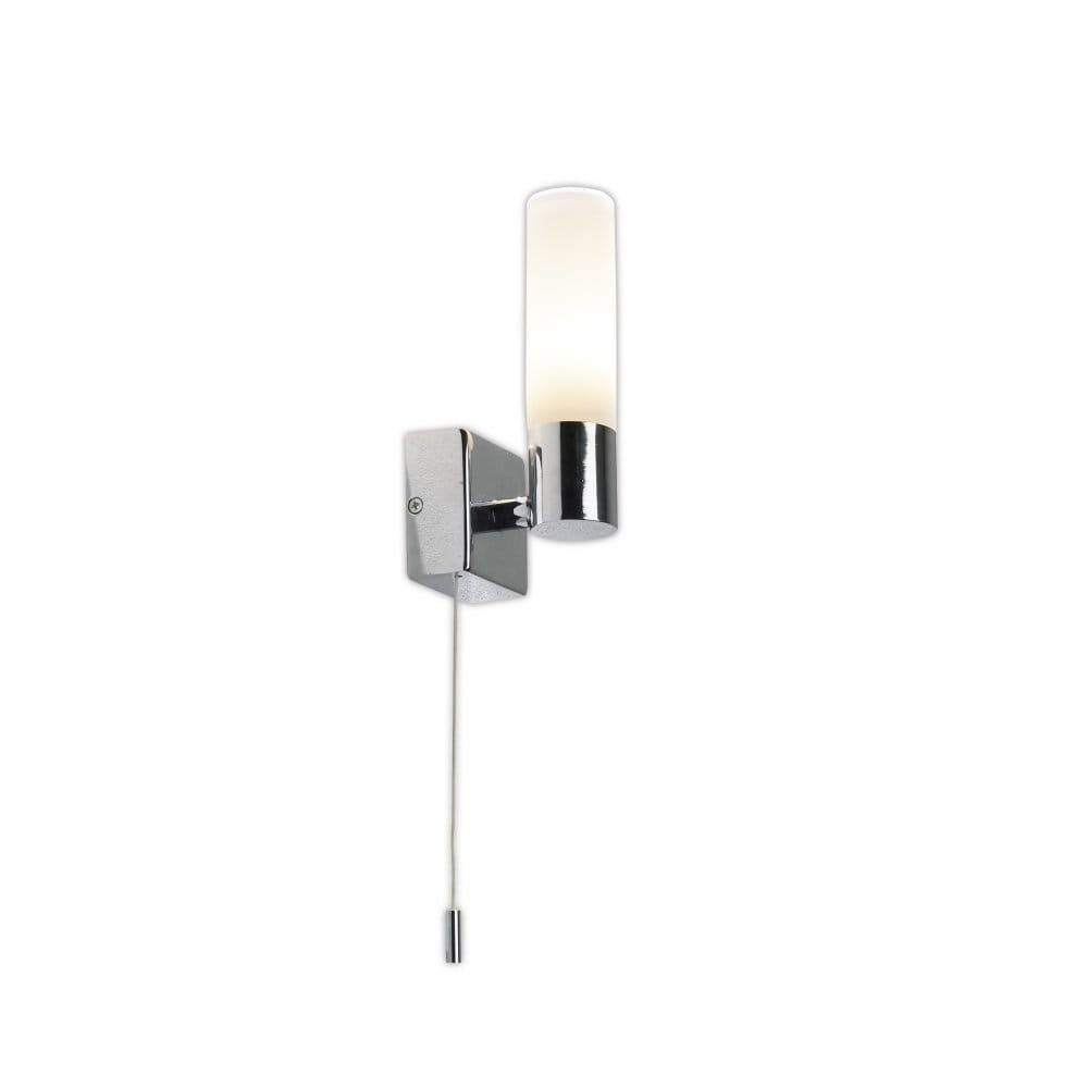 Modern Wall Lights With Switch : Bueno IP44 Rated Bathroom Wall Light with Pull Switch