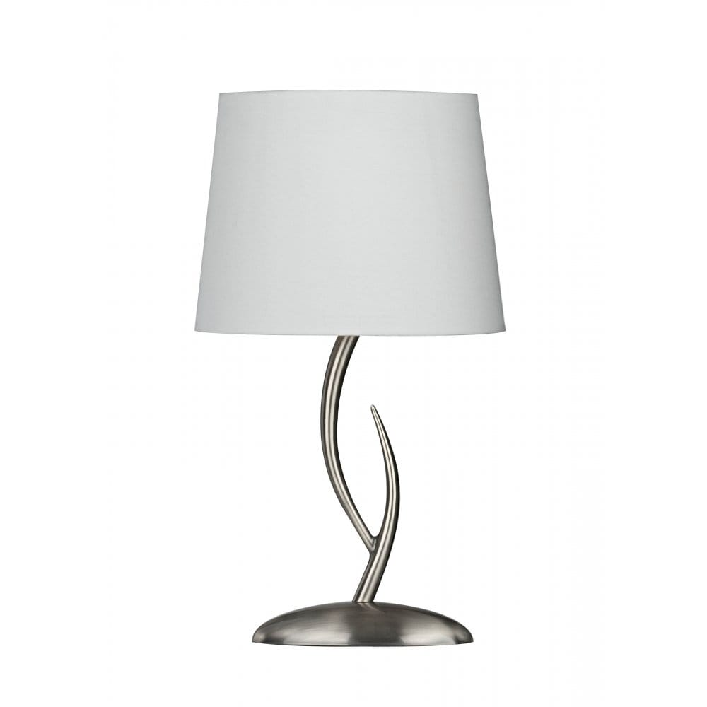 Stag Like Satin Chrome Table Lamp Amp Cream Shade