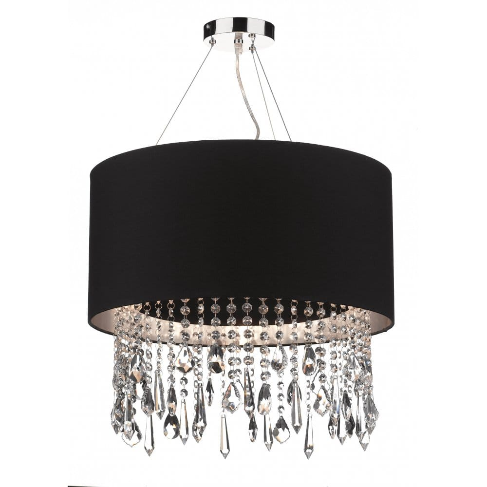 Lizard Circular Black Ceiling Pendant Light Shade With