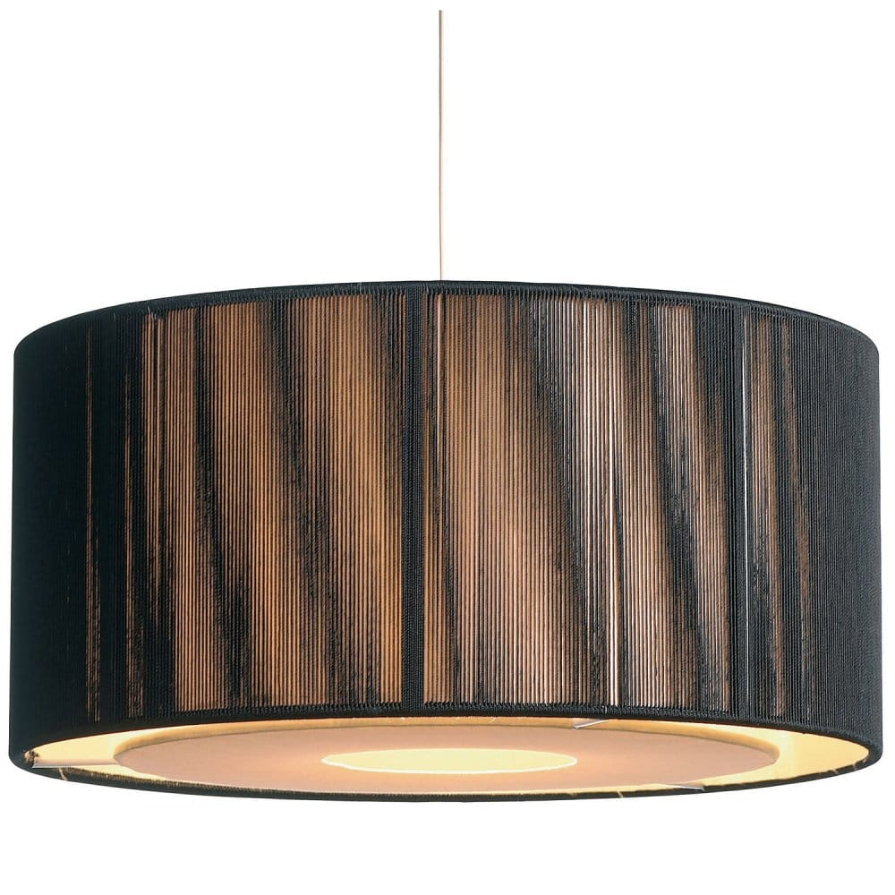 Easy Fit Black Amp Gold Ceiling Light Shade Drum Shaped