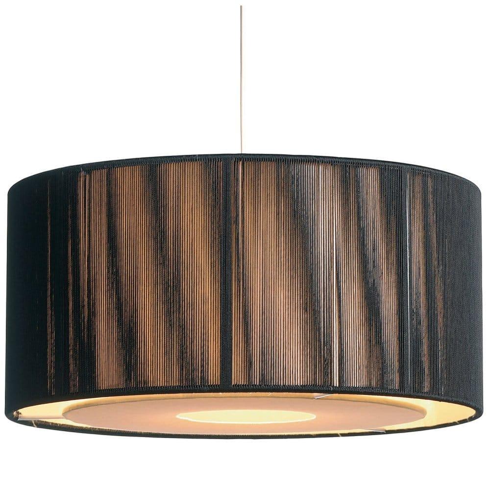 Easy Fit Black Gold Ceiling Light Shade Drum Shaped Modern Lighting