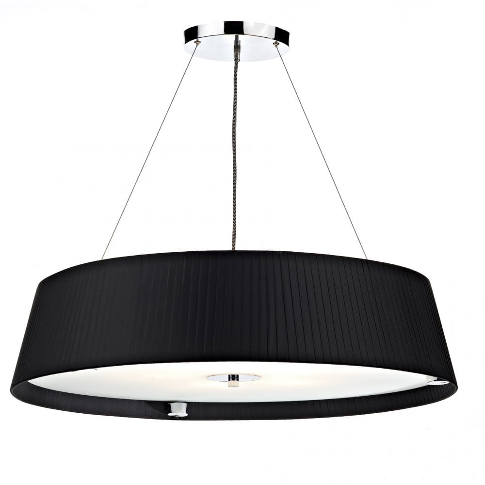 Large Contemporary Ceiling Lights : Modern black ceiling pendant light suspended on wires