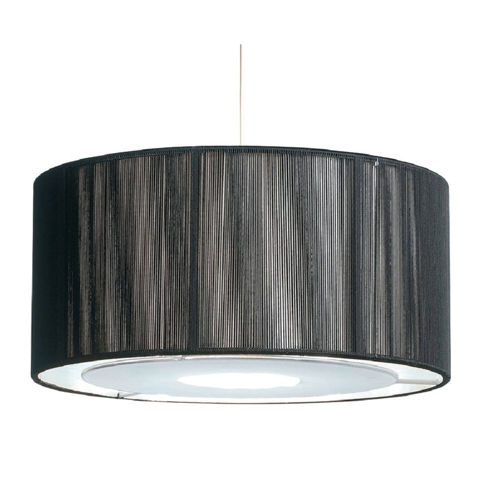 Easy Ceiling Lamp Shade: Easy Fit Black & Silver Ceiling Light Shade Drum Shaped