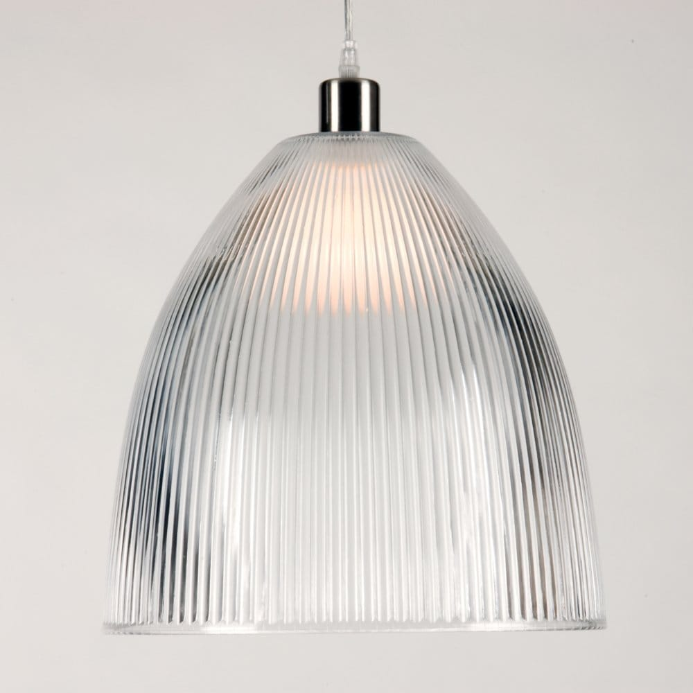 diva large clear ribbed glass pendant light shade part of a set. Black Bedroom Furniture Sets. Home Design Ideas