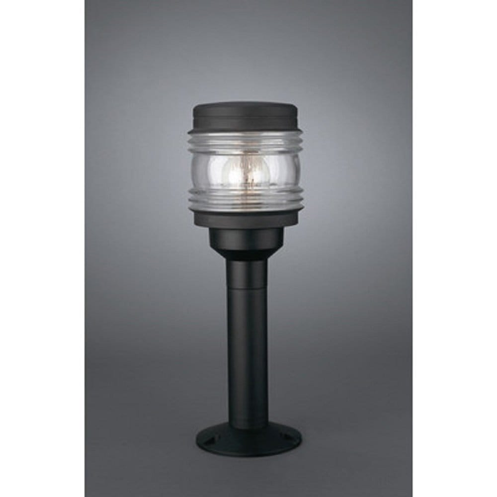 Black Led Solar Powered 5 Ft Traditional Garden Lamp Post: Marine Black Post Light Cheap Exterior Lights