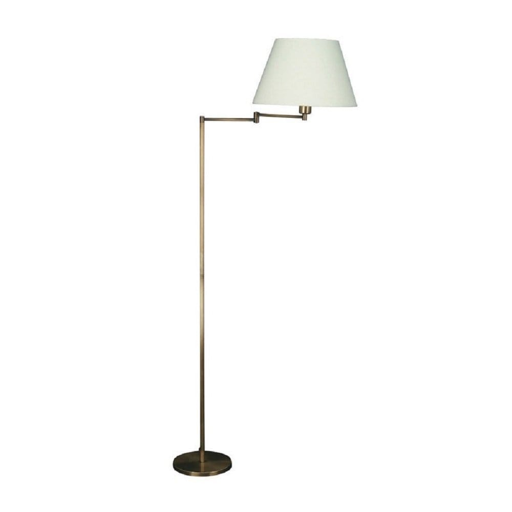 massive junius antique bronze swing arm floor standard reading lamp. Black Bedroom Furniture Sets. Home Design Ideas