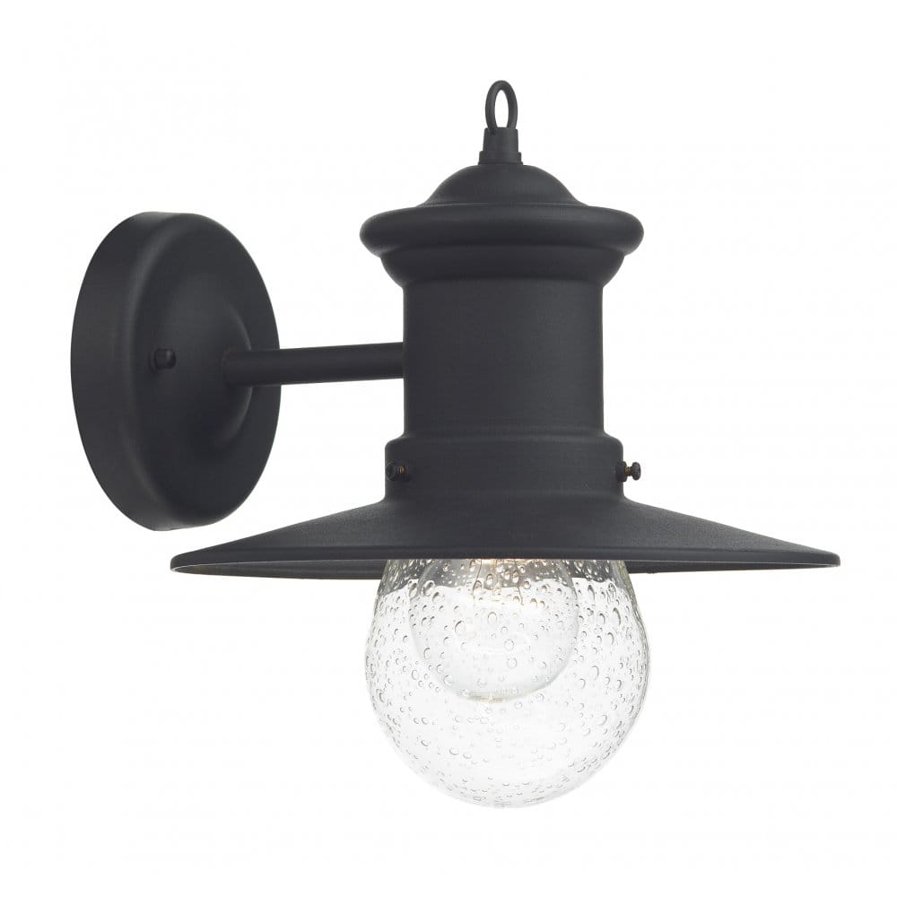External Lantern Wall Lights : Garden Wall Light, IP44 Rated, Matt Black Finish, Exterior Lighting