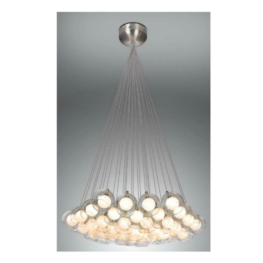 modern ceiling cluster pendant nickel satin with small