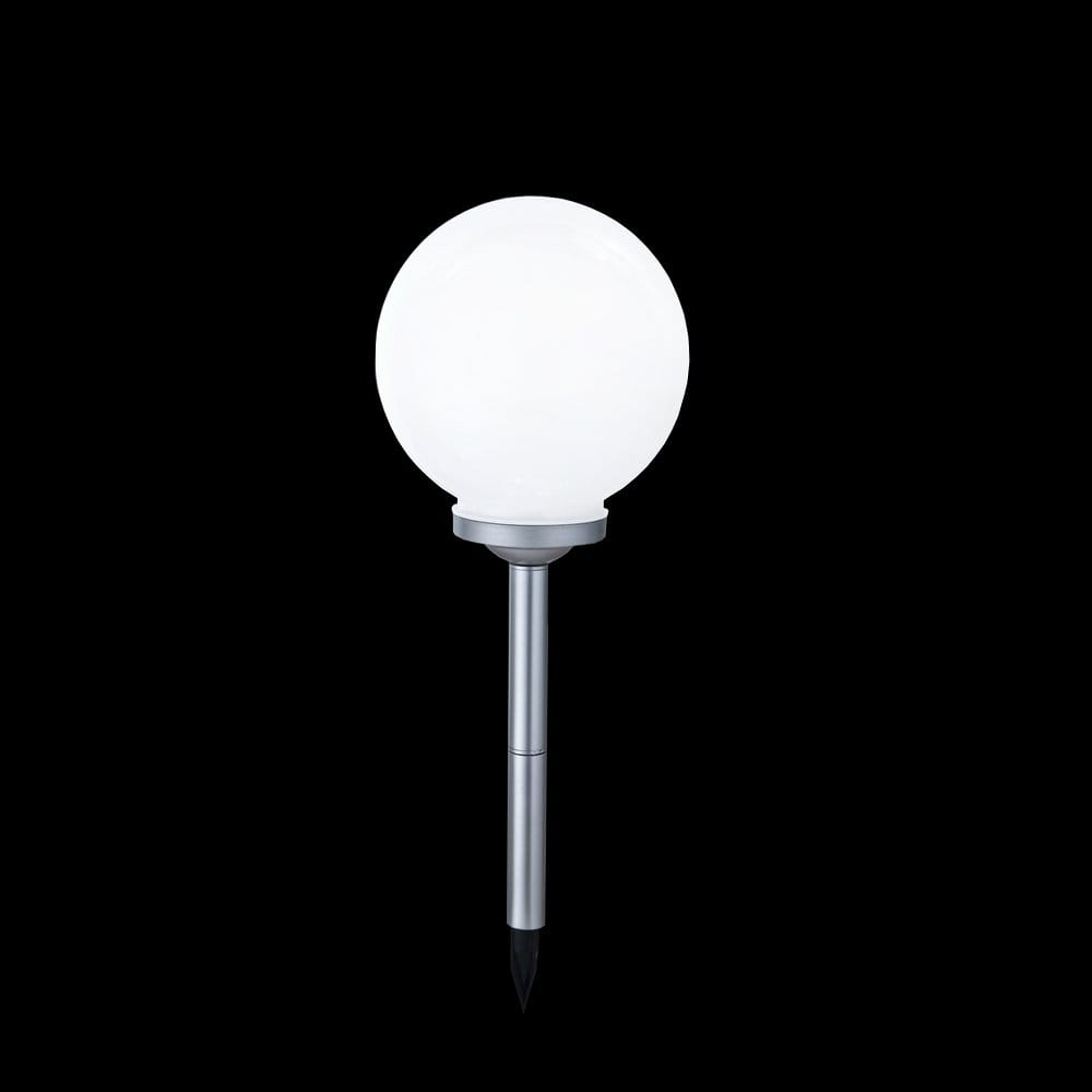 Solar Powered Led Colour Changing Garden Globe Light On A