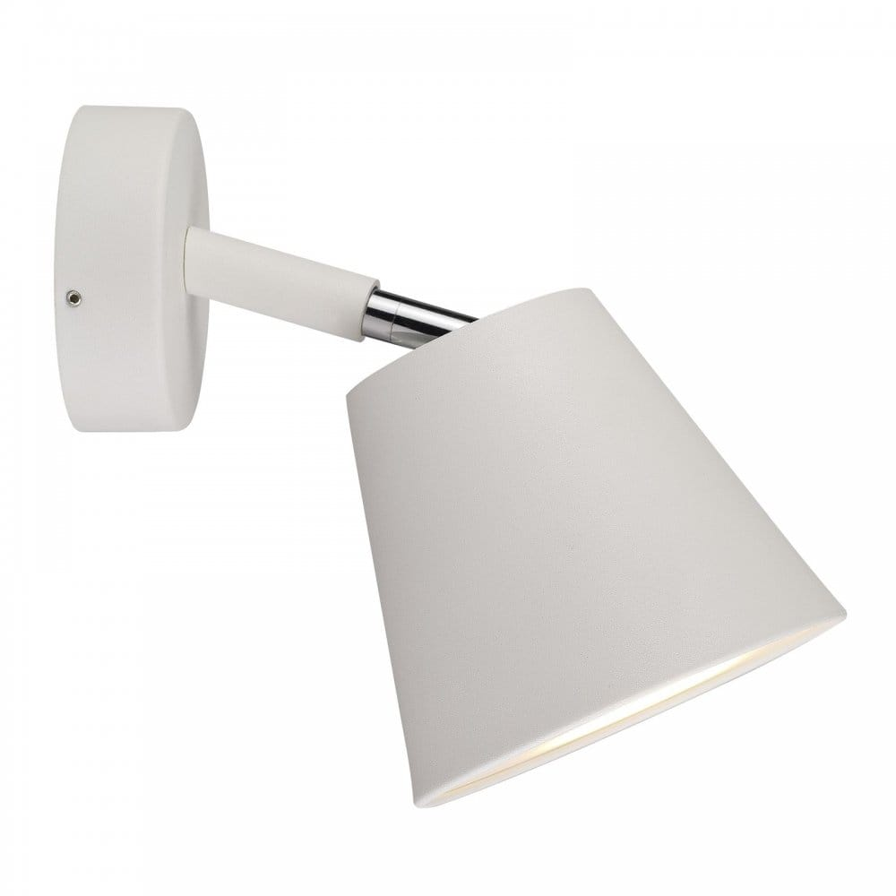 Led Bathroom Wall Lights Uk: Contemporary LED Bathroom Wall Spot Light In White Finish
