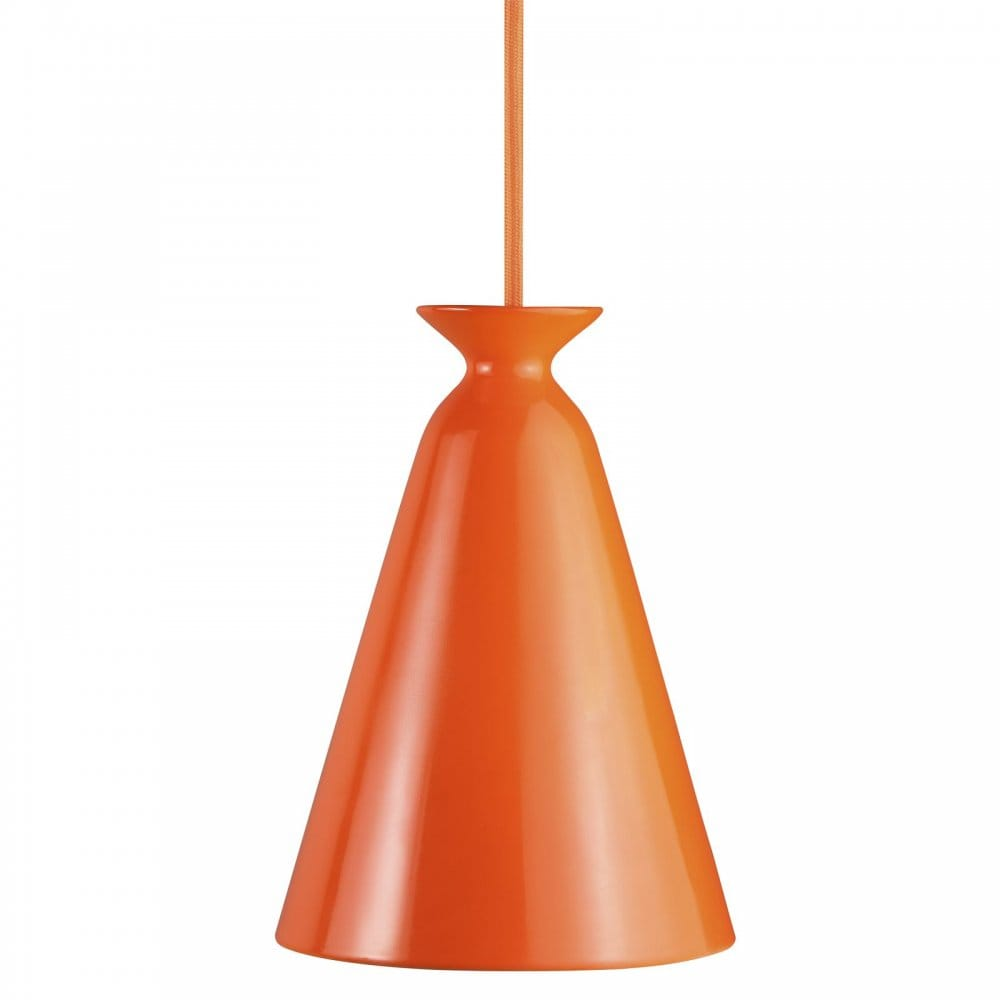 contemporary orange ceiling pendant for high ceilings