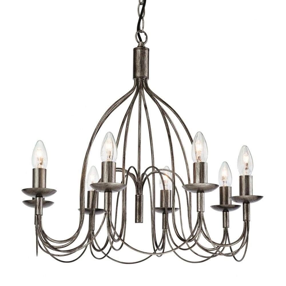 Traditional Design Rustic 8 Light Ceiling Pendant In