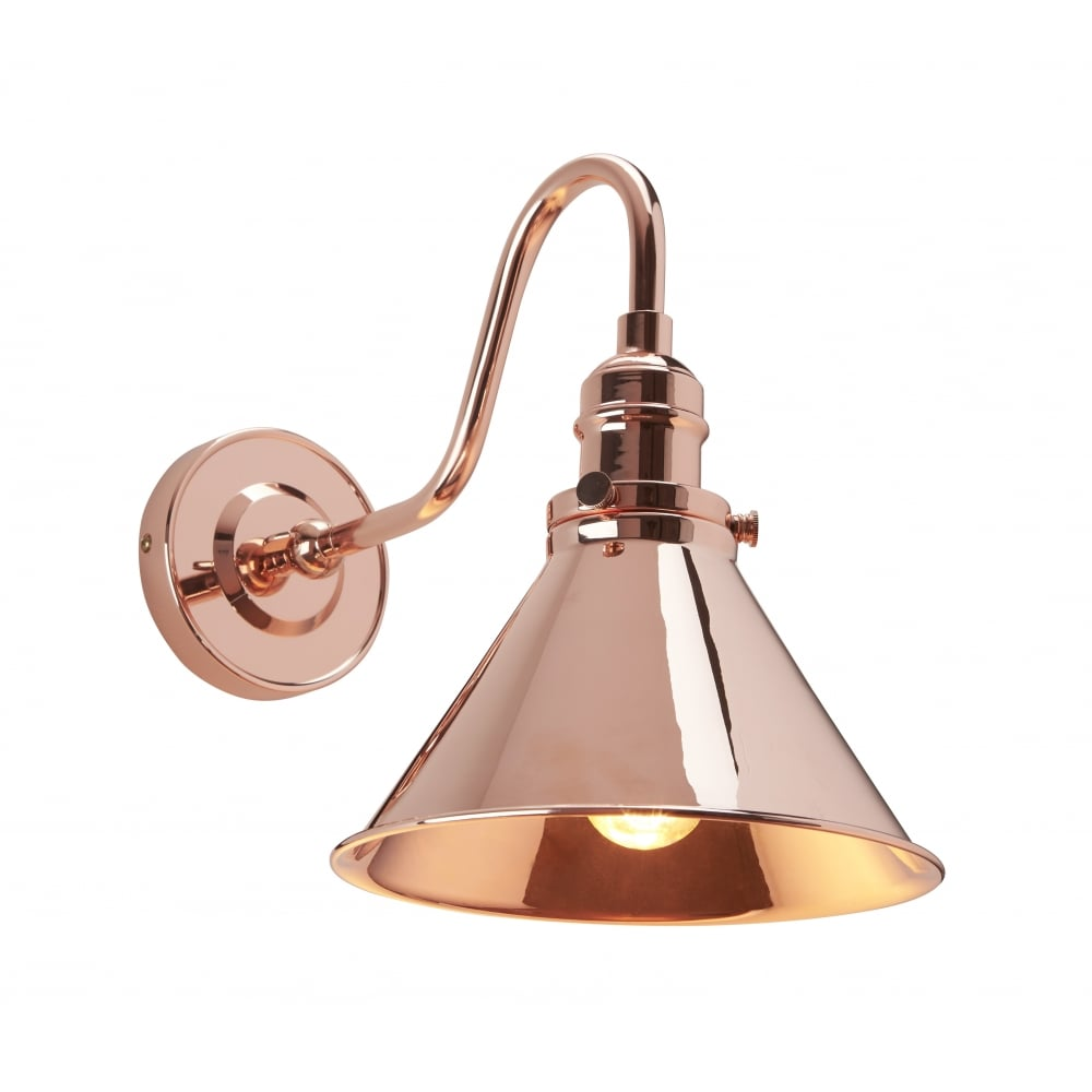Industrial Copper Single Wall Light