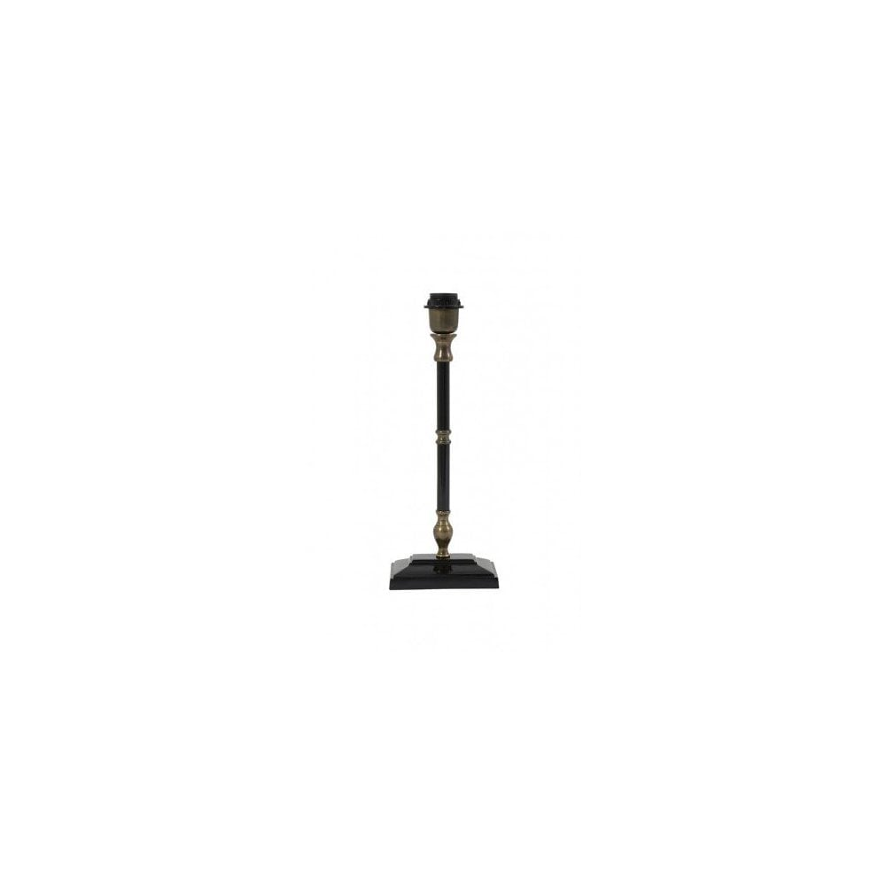 Traditional Black And Antique Bronze Table Lamp Base Lighting Company