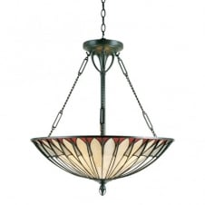 Tiffany ceiling pendant uplighter