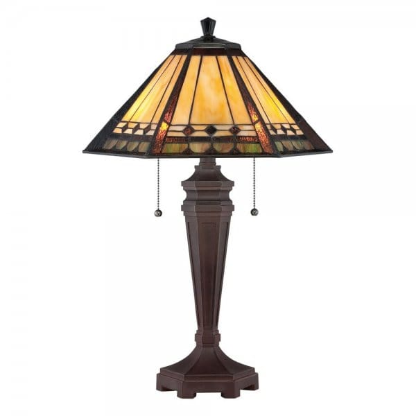decorative tiffany table lamp with bronze base art glass. Black Bedroom Furniture Sets. Home Design Ideas