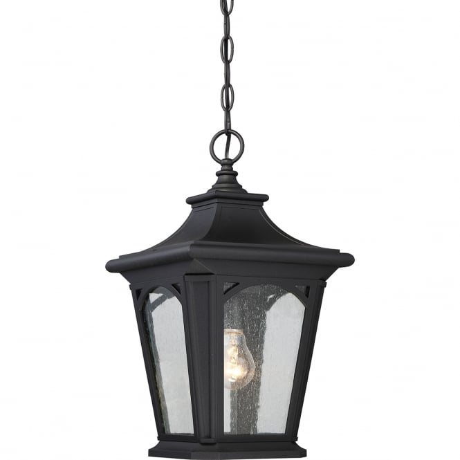 BEDFORD traditional outdoor hanging lantern in black