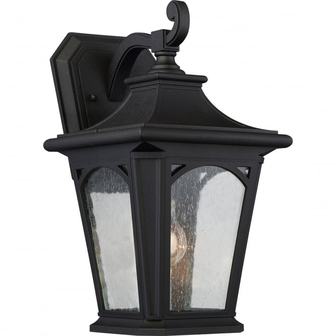 BEDFORD traditional outdoor wall lantern in black (medium)