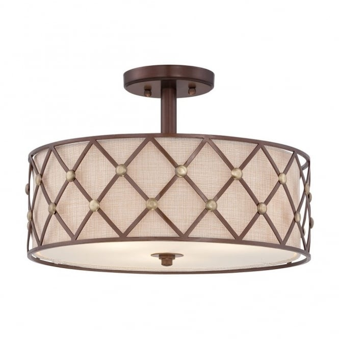 Contemporary copper criss cross pattern ceiling light w fabric inner modern copper criss cross ceiling light with fabric inner shade aloadofball