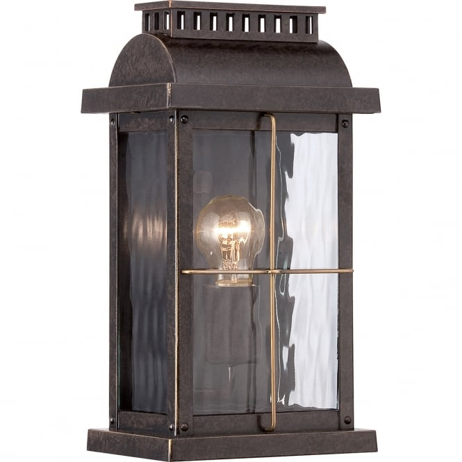 Quoizel CORTLAND traditional outdoor wall lantern in bronze