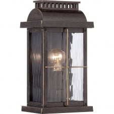 traditional imperial bronze outdoor wall lantern with clear glass