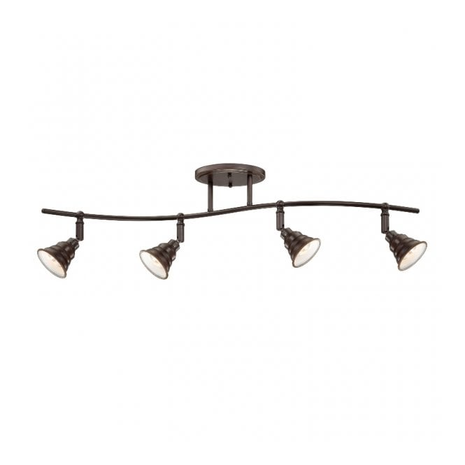 Quoizel EASTVALE traditional antique 4 light semi flush ceiling spotlight bar