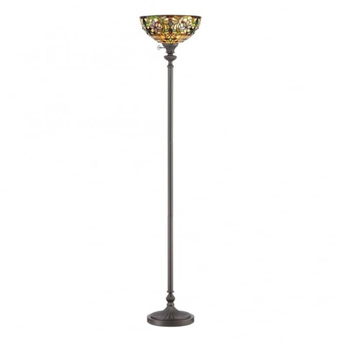 tiffany style floor lamp uplighter with bronze base With floor lamp base for tiffany shade