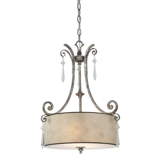 Quoizel KENDRA hanging drum shade ceiling pendant light