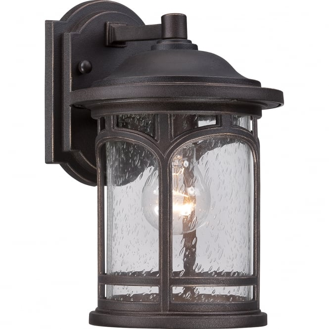 Quoizel MARBLEHEAD palladian bronze outdoor wall lantern (small)