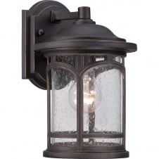 period exterior wall lantern in palladian bronze with seeded glass