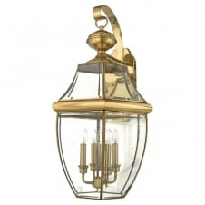 polished brass classic outdoor wall lantern