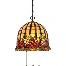 ROSE CLIFFE Tiffany style ceiling pendant