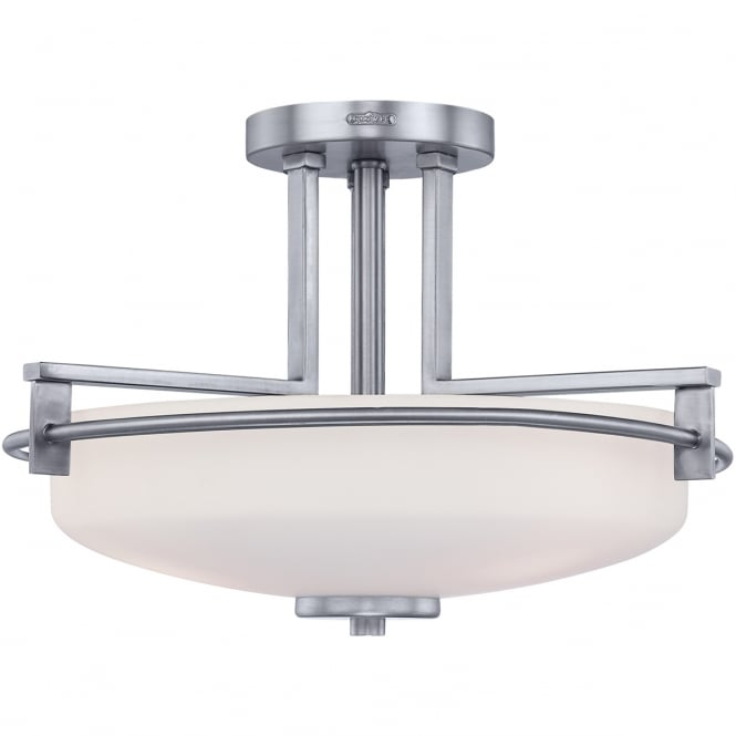 TAYLOR 3 light semi flush bathroom ceiling light in chrome