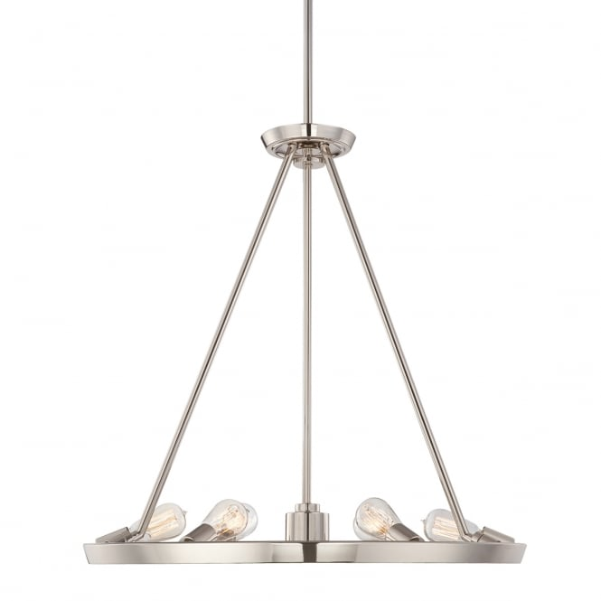 Quoizel THEATER ROW circular hanging ceiling pendant light - silver