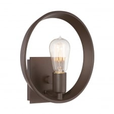 bronze circular wall light