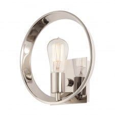 silver circular wall light