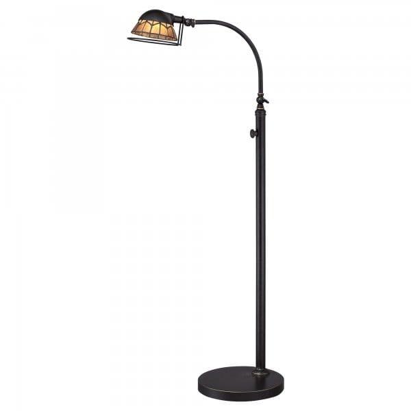 Vintage design led floor lamp in dark bronze with natural for Floor lamp natural light