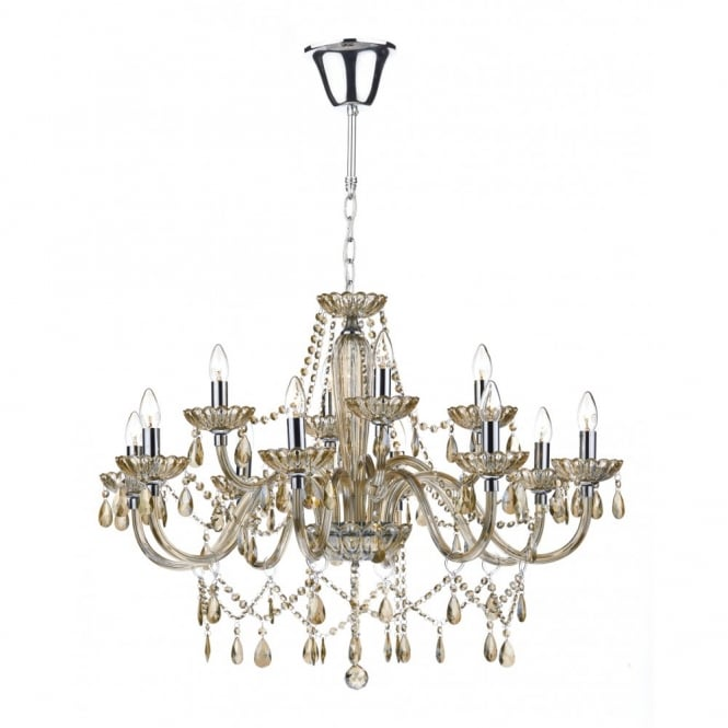 Decorative champagne gold crystal chandelier 12 light class 2 raphael 12 light champagne gold crystal chandelier aloadofball Image collections