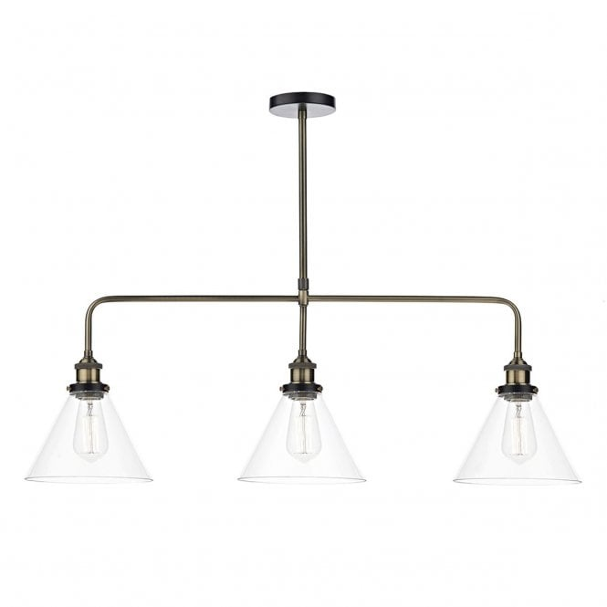 Vintage Style Light Fitting.Three In A Row Pendant Light