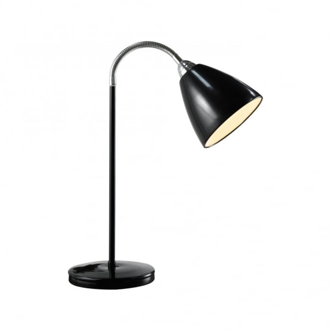 Read flex gloss black reading lamp desk light read flex flexible headed black metal table lamp aloadofball Images